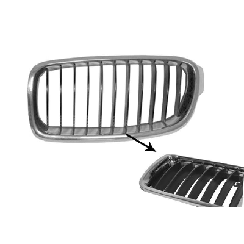 grille calandre gauche bmw s rie 3 f30 f31 basic 2012 noir chrome. Black Bedroom Furniture Sets. Home Design Ideas