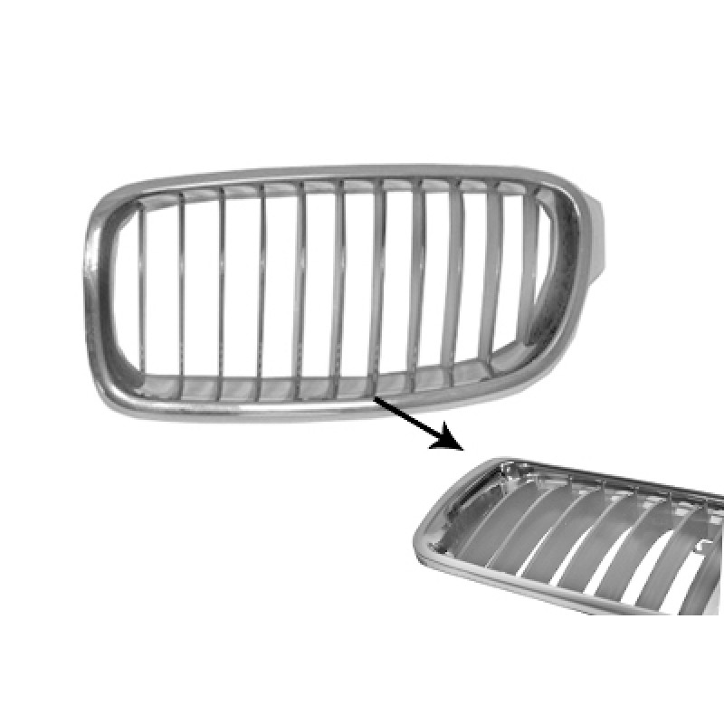 grille calandre gauche bmw s rie 3 f30 f31 modern 2012 gris chrome. Black Bedroom Furniture Sets. Home Design Ideas