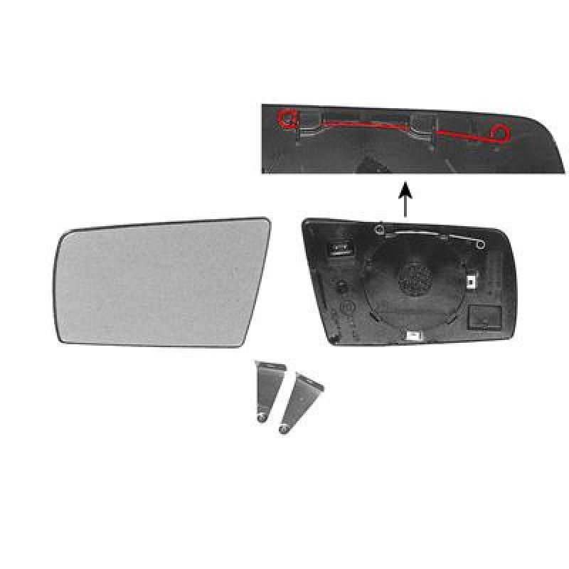 Miroir retroviseur gauche mercedes classe c w202 glace for Miroir pour retroviseur