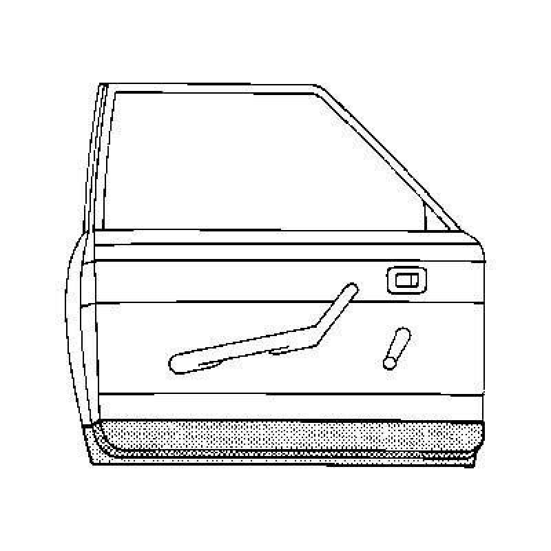 Panneau de porte int rieur gauche volkswagen coccinelle for Cote standard porte interieur