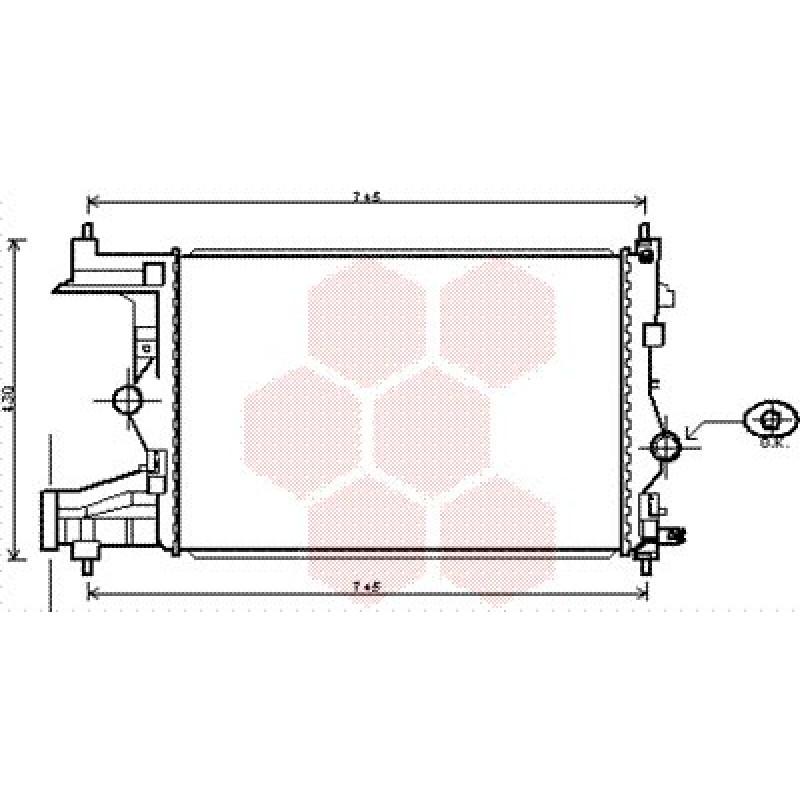 radiateur moteur opel astra j 2010 1 3 cdti 1 7 cdti 110 cv mecanique radiateur moteur. Black Bedroom Furniture Sets. Home Design Ideas