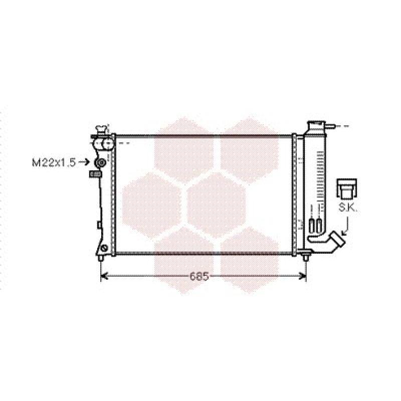 radiateur moteur peugeot 306 radiateur eau moteur peugeot 306 essence 8v 16v. Black Bedroom Furniture Sets. Home Design Ideas