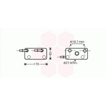 Refrigerateur Huile BMW X3 ( 2.5i / 3.0i )