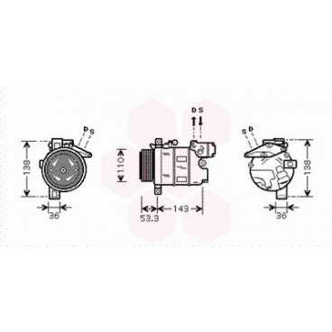 Compresseur de Climatisation BMW X3 ( 2.0i)