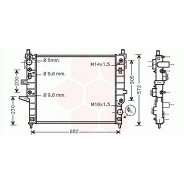 Radiateur Moteur Mercedes M / ML W163 (ML450)