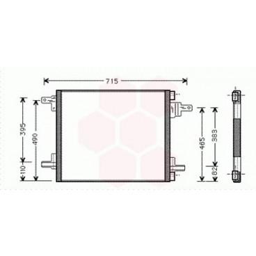 Condenseur / Radiateur de Clim Mercedes M / ML ( ML400 CDi )
