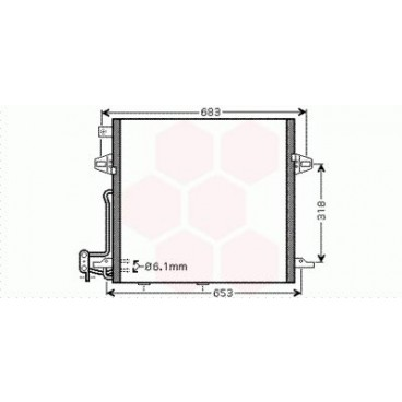 Condenseur / Radiateur de Clim Mercedes M / ML W164 ( ML 350 )