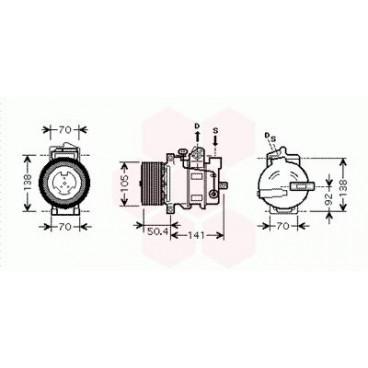 Compresseur de Climatisation Mercedes M / ML ( ML280 / ML320 / ML420)