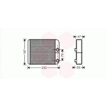 Radiateur Chauffage Mitsubishi L200