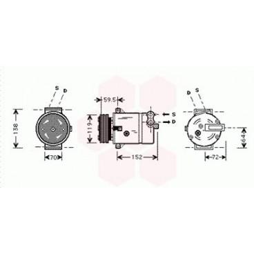 Compresseur de Climatisation Opel Frontera ( 2.2 DTi )
