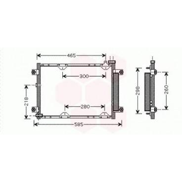 Condenseur / Radiateur de Clim Suzuki Grand Vitara  Essence 1.6 / 2.0 / 2.5