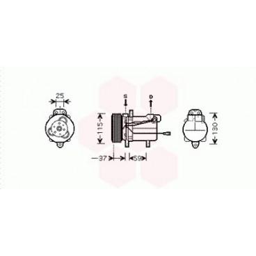 Compresseur de Climatisation Suzuki Grand Vitara ( 2.0 i / essence ) 1998 à 2005