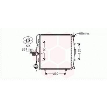 Radiateur Moteur Droit Porsche Boxster ( 2.7 / 3.4 )