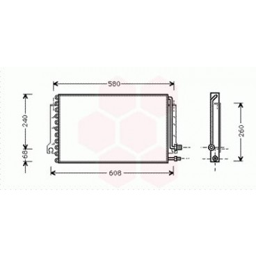 Condenseur / Radiateur de Clim Porsche 968