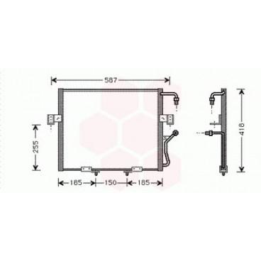 Condenseur / Radiateur de Clim Kia Sportage ( 2.0 TDiC Turbo Diesel )