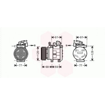 Compresseur de Climatisation Kia Sorento ( 2.5 CRDi - LHD )