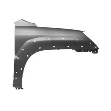 Aile avant droite Kia Sportage EX 2004-2010 - avec trous pour moulure d'aile