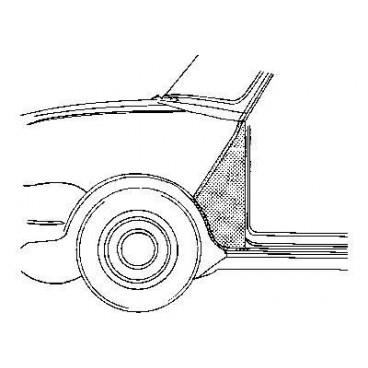 Triangle d'aile avant gauche Austin Mini