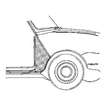 Triangle d'aile avant droit Austin Mini