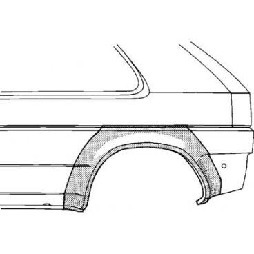 Arc d'aile arrière Gauche Honda Civic ( 2 portes )