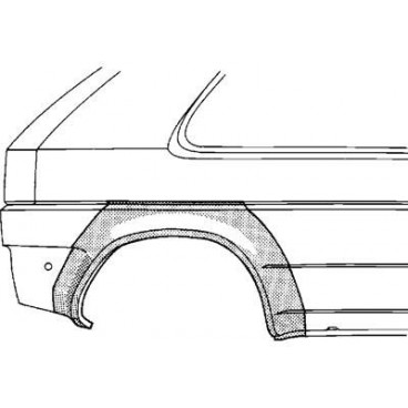 Arc d'aile arrière Droit Honda Civic ( 4 portes )