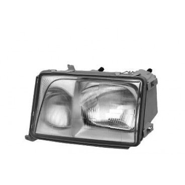 Phare gauche complet avec clignotant blanc Mercedes W124 Phase 3 (Hella)