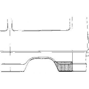 Tôle latérale arrière gauche Mercedes 207D W601 (3350)