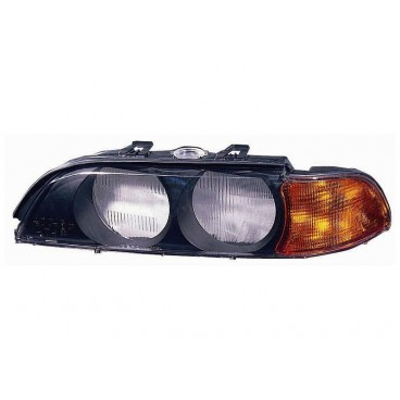 Verre de phare gauche BMW Série 5 E39 Phase 1 Cligno orange
