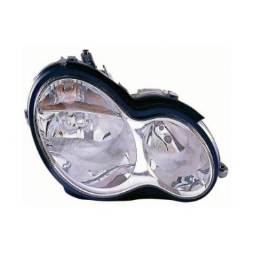 Phare droit Mercedes W203 Classe C (verre lisse / crystal / marque AL) 2000 - 2007