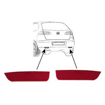 2 Catadioptre Arriere Seat Ibiza 06/2002 a 03/2006