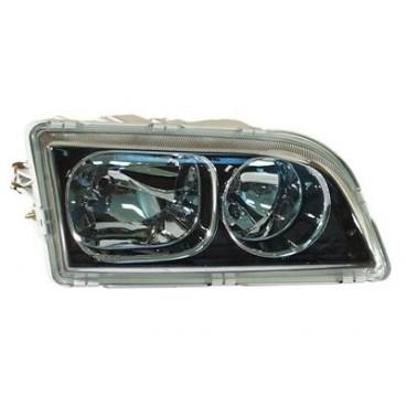 Optique droit Volvo V40 / S40 2002-2003 - intérieur noir chromé
