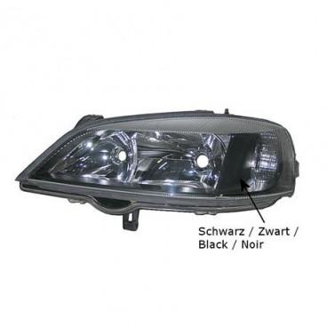 Optique de phare gauche Opel Astra G Coupé / Cabriolet 1998-2004 (intérieur couleur noire)