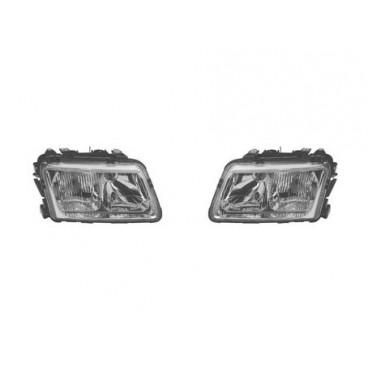 2 optiques de phares avant Audi A3 1996-2000 (avec feux antibrouillard avant)