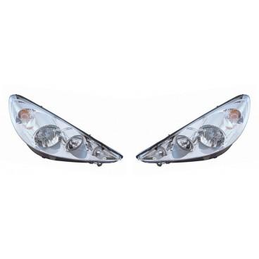 2 phares avant (H7+H1) Peugeot 206 (marque Valeo)