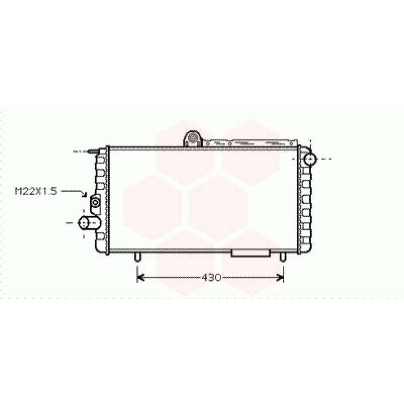Radiateur Moteur Alfa Romeo 33 - ( Essence )