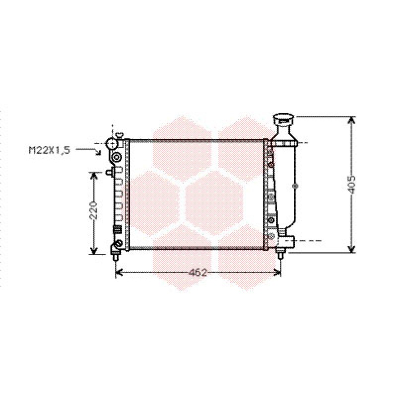 radiateur peugeot 106 radiateur moteur essence peugeot 106 1 0 1 1 1 3. Black Bedroom Furniture Sets. Home Design Ideas