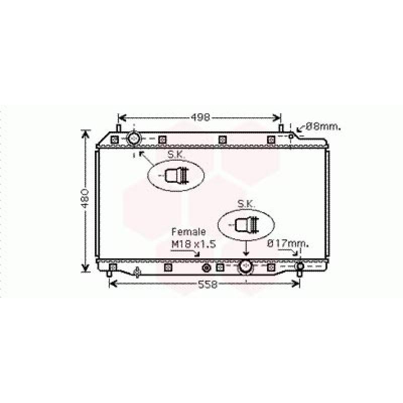 Radiateur Moteur Honda CRV ( 2.2 CDTi - Type Denso )