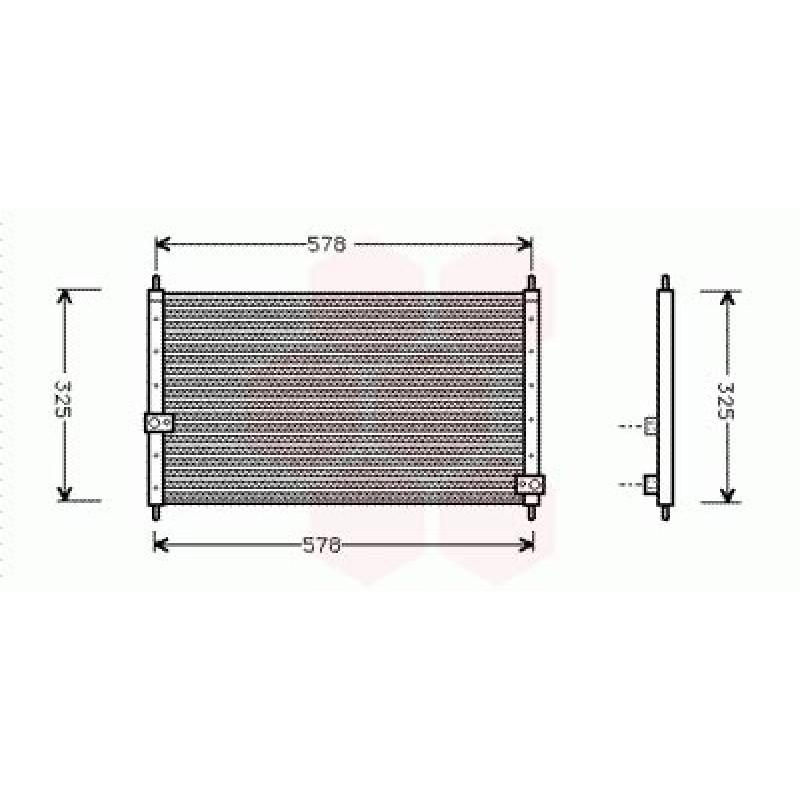 Condenseur / Radiateur de Clim Honda CRV ( 2.0 )