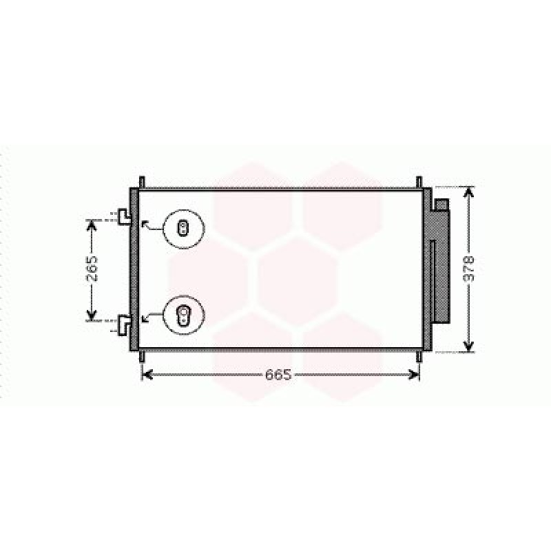 Condenseur / Radiateur de Clim Honda CRV