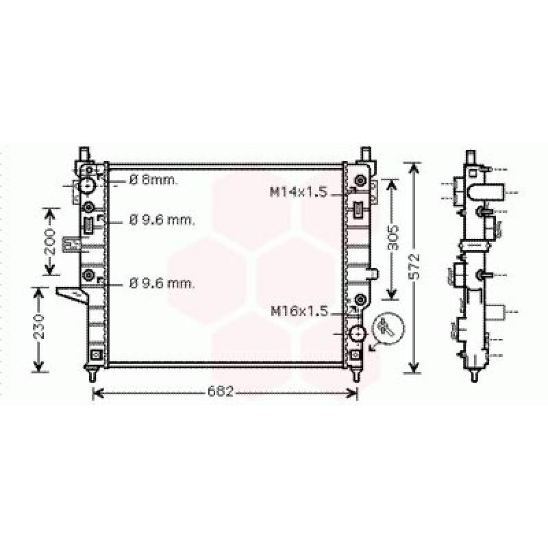 Radiateur Moteur Mercedes M / ML W163 (ML230)