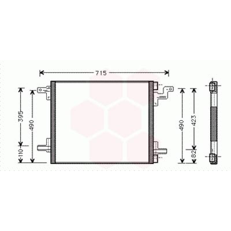 Condenseur / Radiateur de Clim Mercedes M / ML ( ML55AMG )