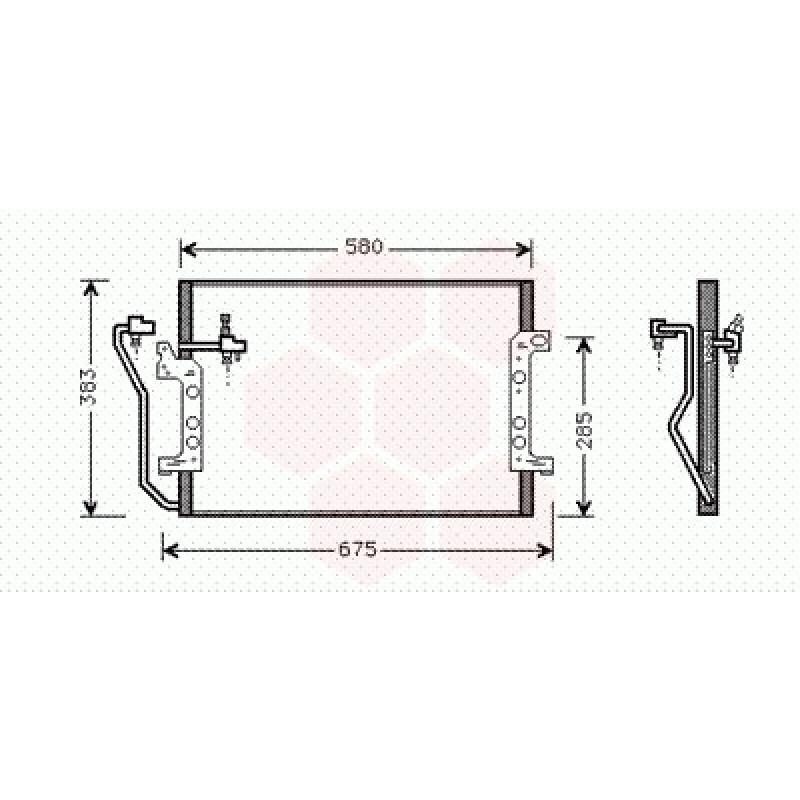 condenseur climatisation mercedes classe a w168 condenseur radiateur de clim mercedes classe. Black Bedroom Furniture Sets. Home Design Ideas