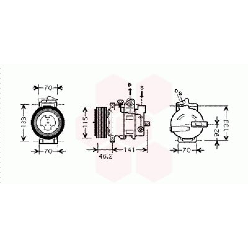 Compresseur de Climatisation Mercedes M / ML