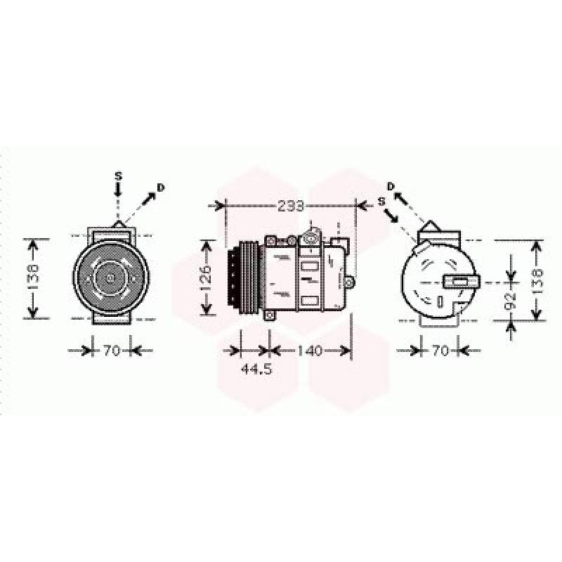 Compresseur de Climatisation Mercedes M / ML ( ML230 / ML320 / ML430 )