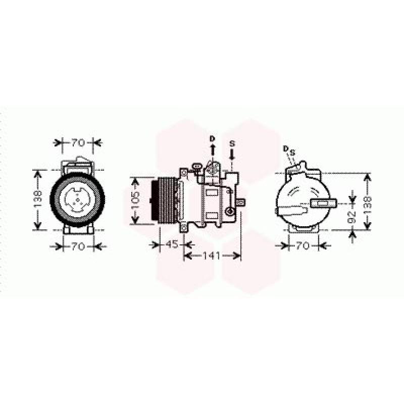 Compresseur de Climatisation Mercedes M / ML ( ML 350 / ML 500)