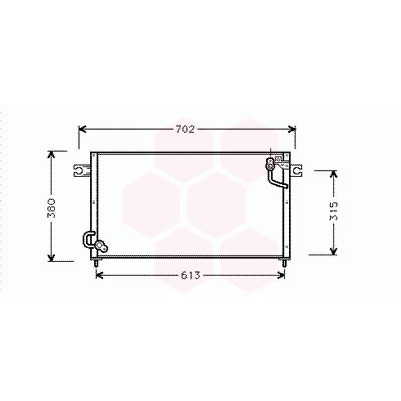 Condenseur / Radiateur de Clim Mitsubishi Pajero