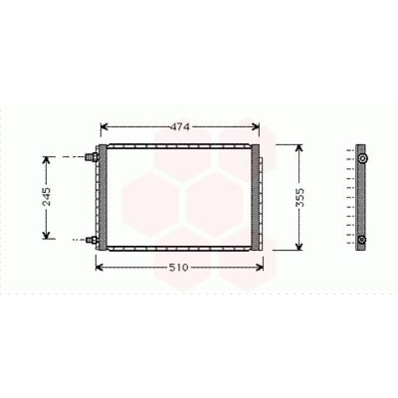 Condenseur / Radiateur de Clim Suzuki Vitara ( Turbo D)