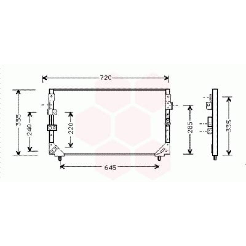 Condenseur / Radiateur de Clim Toyota Land Cruiser J8 ( 4.2 TD)