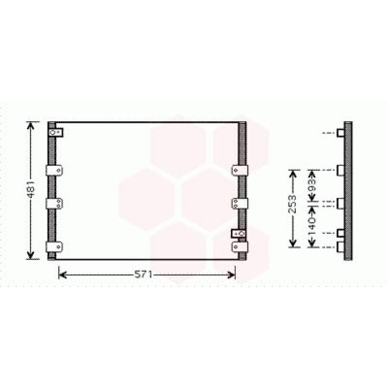 Condenseur / Radiateur de Clim Toyota Land Cruiser J9 KZJ  (3.4 v6 / 3.0TD)