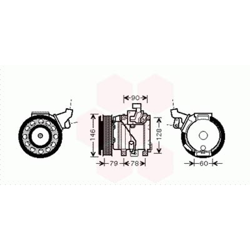 Compresseur de Climatisation Toyota Rav4 XA2